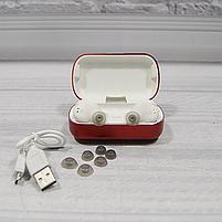 Bluetooth беспроводные наушники с водозащитой TWS s8 5.0 (блютуз гарнитура с кейсом-зарядкой) (красные), фото 6