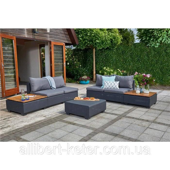 Комплект садовой мебели Allibert Sapporo Wood Lounge Set