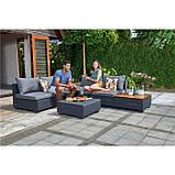 Комплект садовой мебели Allibert Sapporo Wood Lounge Set, фото 9