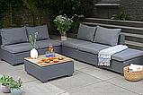Комплект садовой мебели Allibert Sapporo Wood Lounge Set, фото 3