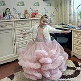 Пышное платье Облачко ПУДРОВОЕ на 4-5, 6-7, 8-9 лет, фото 3