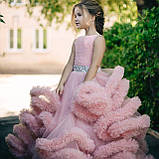 Пышное платье Облачко ПУДРОВОЕ на 4-5, 6-7, 8-9 лет, фото 4