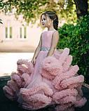 Пышное платье Облачко ПУДРОВОЕ на 4-5, 6-7, 8-9 лет, фото 5