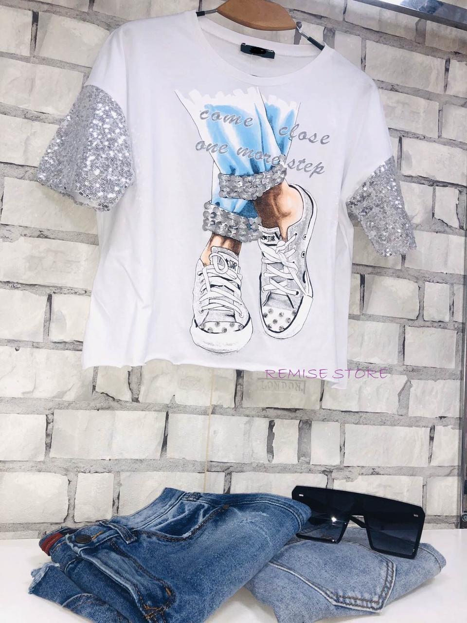Белая Летняя модная стильная женская 3D футболка 2020