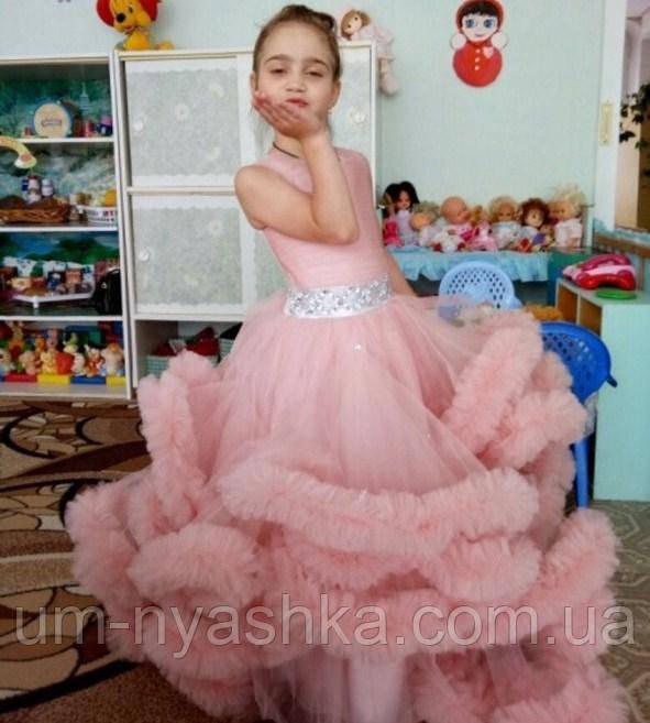 пышное детское длинное платье облако