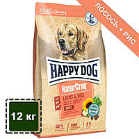 Сухой корм для собак Happy Dog Natur Croq (Хеппи Дог Натур Крок) лосось + рис | 12 кг