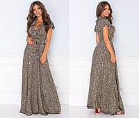 Шикарное летнее платье женское макси (2 цвета) ТК/-2176 - Леопардовый, фото 1