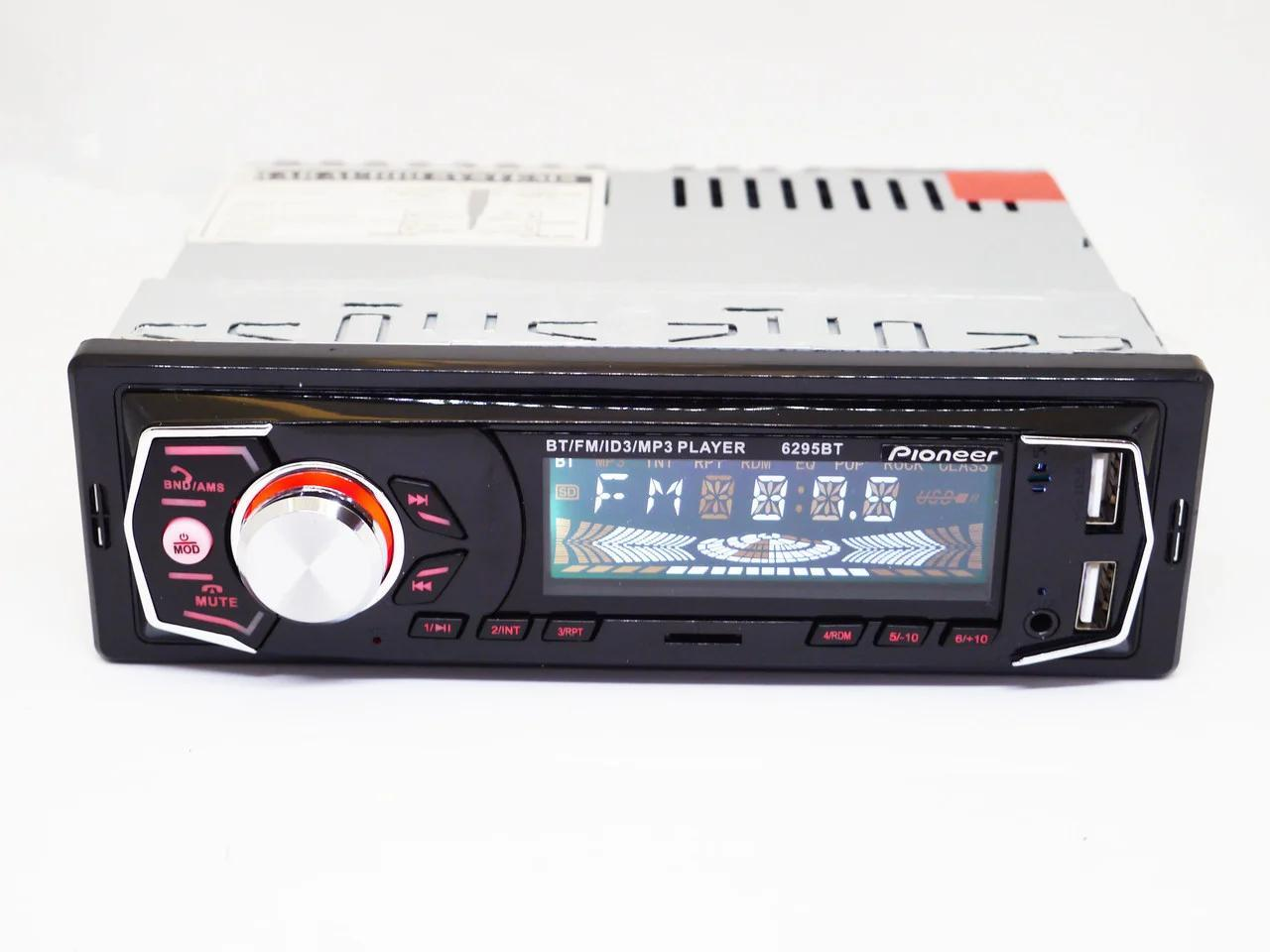 1dinАвтомагнитолана 2 USBPioneer 6295 BT(магнитола пионер с Bluetooth + 2 выхода юсб) (copy) + ПОДАРОК!