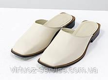 Мюли дизайнерские Gino Figini С-2007-02из натуральной кожи 38 Молочный, фото 2
