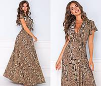 Шикарне літнє плаття жіноче максі (2 кольори) ТК/-2176 - Пітон, фото 1