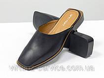 Мюли дизайнерские Gino Figini С-2007-01 из натуральной кожи 38 Черный, фото 3