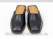 Мюли дизайнерские Gino Figini С-2007-01 из натуральной кожи 38 Черный, фото 2