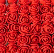Искусственные красные розы для изготовления сувениров 144 шт