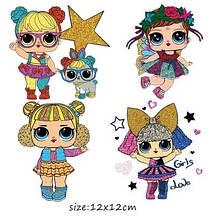 Красивая термонаклейка на одежду для детей Кукла LOL