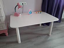 Дитячий столик білий (110х70х52см)
