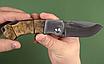 """Нож складной охотничий для разделки тушек.""""Носорог-1"""". Рукоять - кап березы., фото 5"""