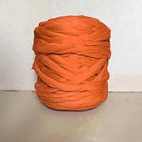 Толстая пряжа мериноса оранжевый 100% шерсть 21 микрон