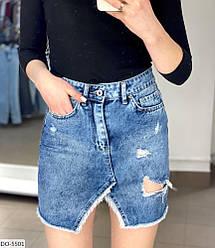 Спідниця джинсова жіноча стильний міні розміри 42 44 46 48 Новинка 2020 кольори