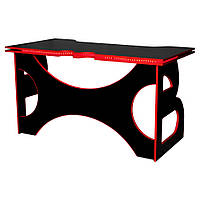 Стол Barsky Homework Game Red HG-05 LED черный с красной кромкой и подсветкой