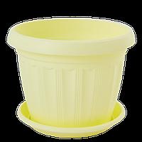 Цветочный горшок Алеана Терра 8 Жёлтый
