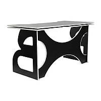 Мебель для работы дома стол школьный Barsky Homework Game Red HG-06 черный с белой кромкой