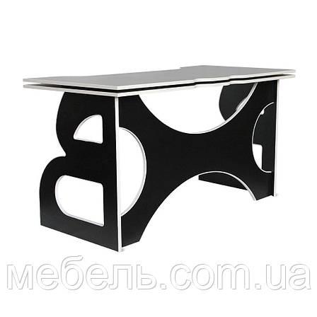 Мебель для работы дома стол школьный Barsky Homework Game Red HG-06 черный с белой кромкой, фото 2