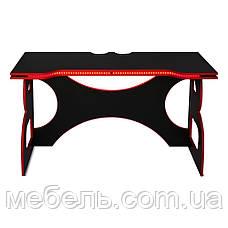Офисный стол Barsky HG-05 LED Homework Game Red 1400*700, красный, фото 3