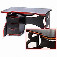 Мебель для работы дома стол для учебных заведений с тумбой Barsky Game RED LED HG-05/CUP-05/ПК-01