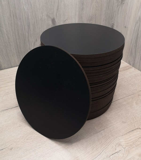 Подложка для торта круглая черная 28 см.Подставка под торт.Усиленная подложка для торта.