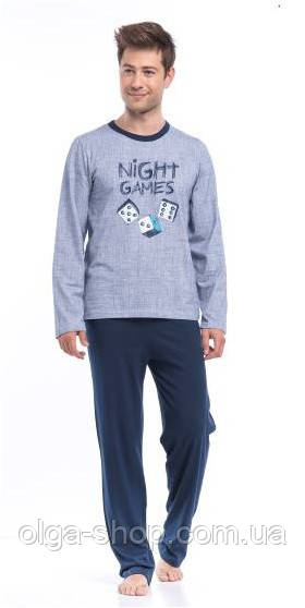 Пижама мужская хлопковая зимняя Dobra Nocka 8013