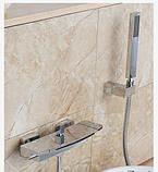 Смеситель для ванны каскадный латунный хром 0177, фото 2