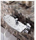 Смеситель для ванны каскадный латунный хром 0177, фото 3