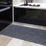 Коврик на метраж  ширина 65 см Черный с серебром для Ванной Туалета Кухни Коридора Дорожка Аквамат, фото 3