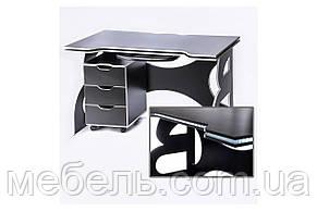 Офисные столы офисный стол с мобильной тумбой barsky game led white hg-06/led/cup-06, фото 2