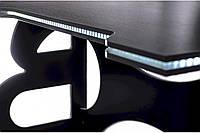 Офисные столы офисный стол barsky homework game white hg-06 led 1400*700