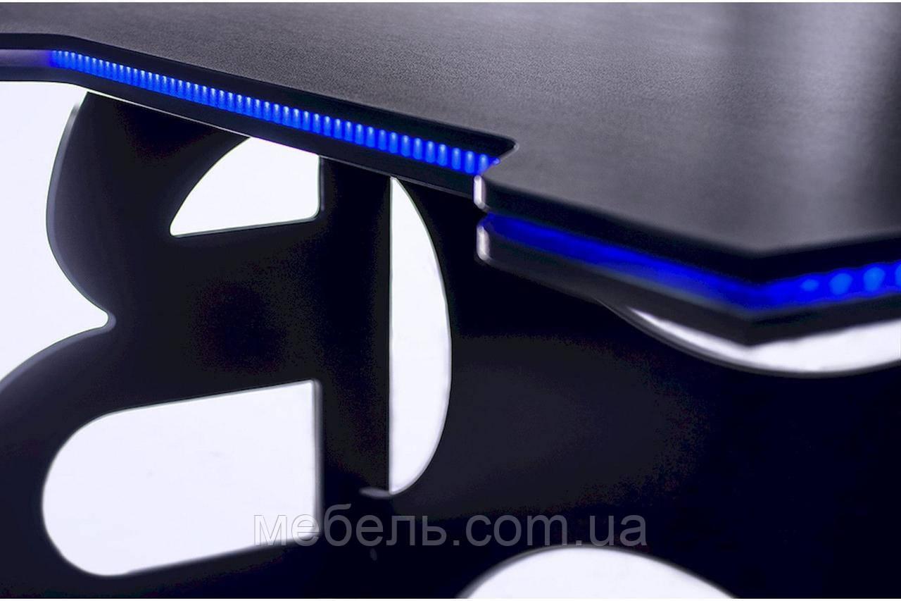 Офисные столы офисный стол barsky homework game blue hg-04 led 1400*700