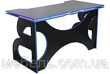 Офисные столы офисный стол barsky homework game blue hg-04 led 1400*700, фото 3