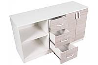 Другие мебельные комплектующие тумба многофункциональная Barsky Office White\Oregon 1200х400х670 OFWО-03