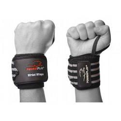 Power Play Бинты для запястий PP-3081 Черно-Серый