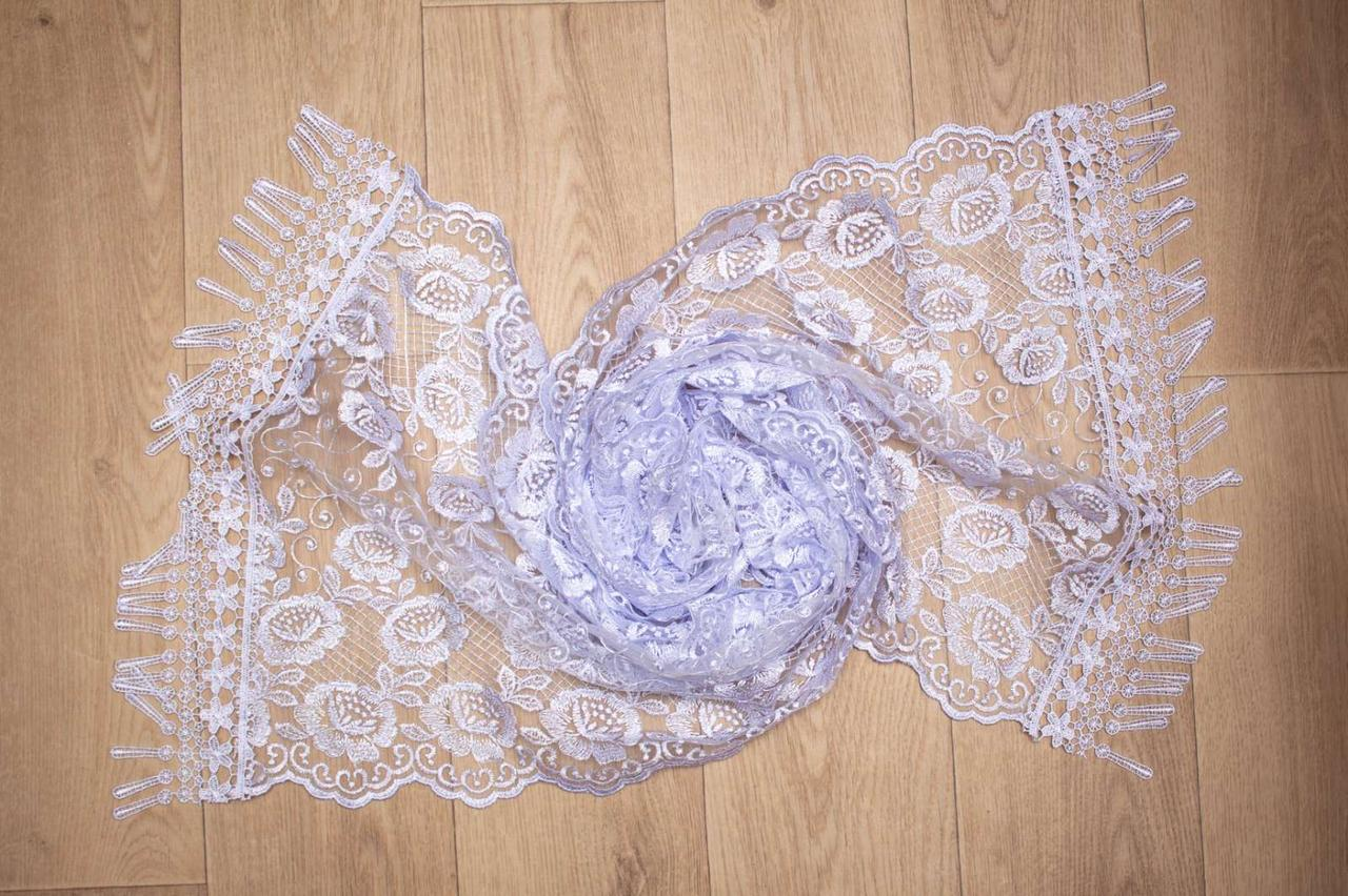 Фатиновый шарф рюша