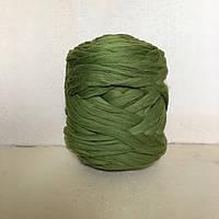 Толстая пряжа из шерсти мериноса зеленый 21 микрон 100% шерсть цвет камуфляж