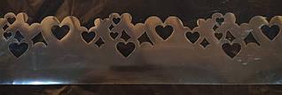 """Трафарет для создания шоколадного декора """"Сердца 70*10 см"""""""
