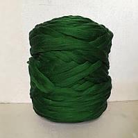 Толстая пряжа из шерсти мериноса зеленый 21 микрон 100% шерсть цвет Темно-зеленый