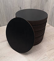 Подложка для торта круглая черная 30 см.Подставка под торт.Усиленная подложка для торта.