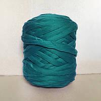 Толстая пряжа из шерсти мериноса зеленый 21 микрон 100% шерсть цвет Изумрудный