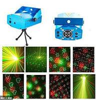 Лазерный проектор Диско Лазер стробоскоп для дома, кафе,бара,