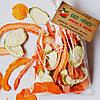 Овочеві чіпси з гарбуза-17, кабачків-17 і моркви-16, суміш 50 грам