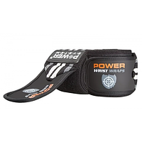 Power System Кистевые бинты Wrist Wraps PS-3500 Grey/Black
