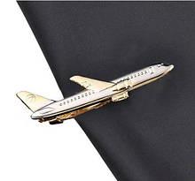 Мужской зажим для галстука Самолет