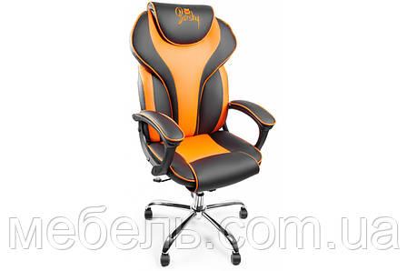 Компьютерное кресло Barsky BSDchr-05 Sportdrive Orange Arm_pad Tilt Chrome, геймерское кресло, фото 2